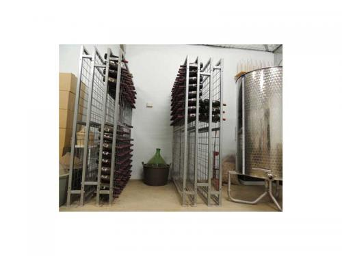 Back to Back Galvanised Connoisseur Wine Racks in Winery
