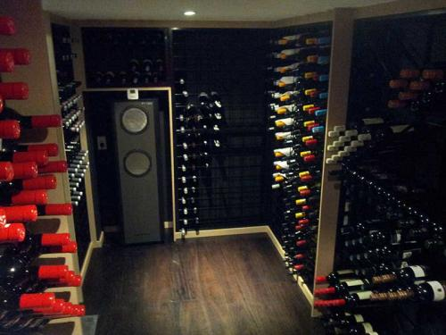 Powder Coated Connoisseur Wine Racks in Coolroom