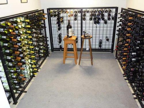 12 high x 18 wide powder coated wine racks