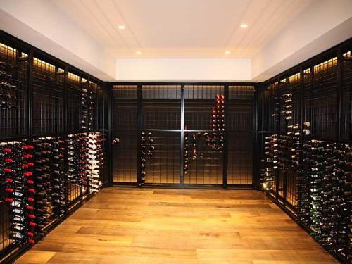 22 high x 9 wide powdercoated wine racks