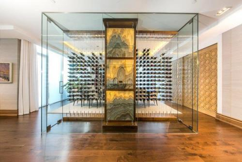 Cable Wine System behind Glass