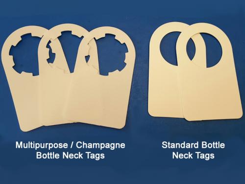 Standard and Champagne Bottle Neck Tags