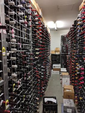 """Lots of Galvanised Wine Racks in """"The Ivy"""" - Sydney"""