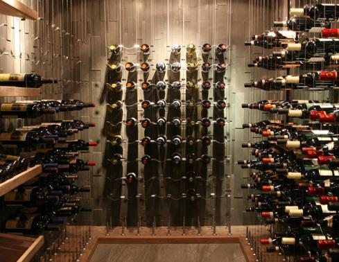 cable wine system custom wine cellar