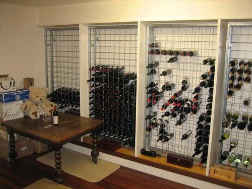 Galvanised Steel Wine Racks in Joinery