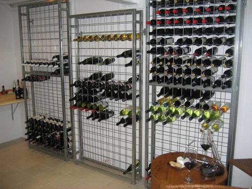 Galvanised Steel Wine Racks