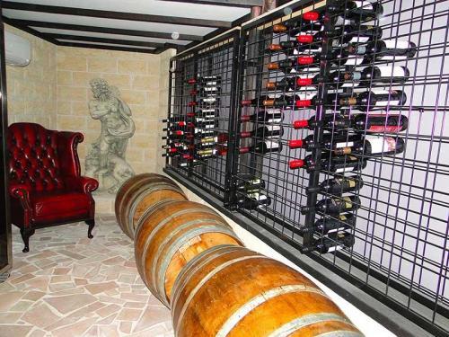 Powder Coated Wine Racks in Cellar